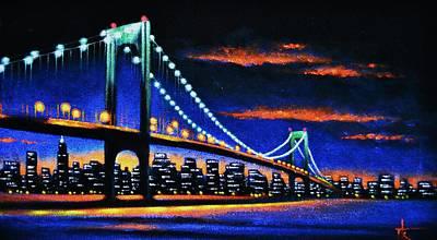 Sunsert Painting - Whitestone Bridge 2 Sold by Thomas Kolendra