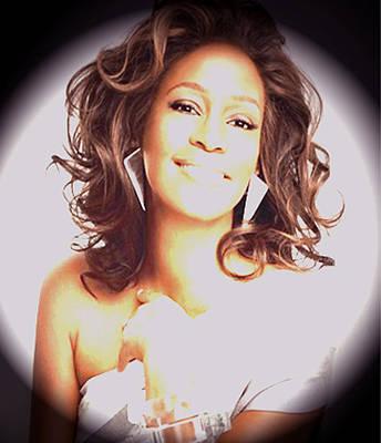 Whitney Houston Song Bird No. 3 Print by De Beall