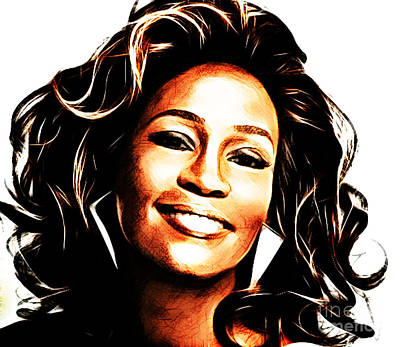 Rnb Mixed Media - Whitney Houston by The DigArtisT