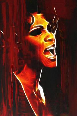 Whitneys Tears Print by Stefan Kuhn