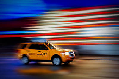 Times Square Photograph - Whizzing Along by Susan Candelario