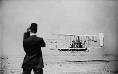 Wilbur Wright 1867-1912 Takes Print by Everett