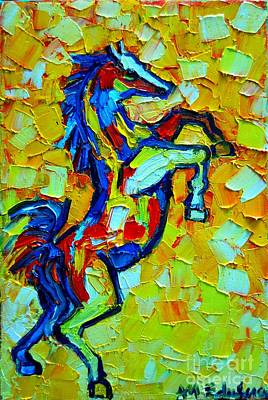Horse In The Run Painting - Wild Horse by Ana Maria Edulescu