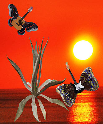 Lepidopterans Digital Art - Wild Thing Rocks by Eric Kempson