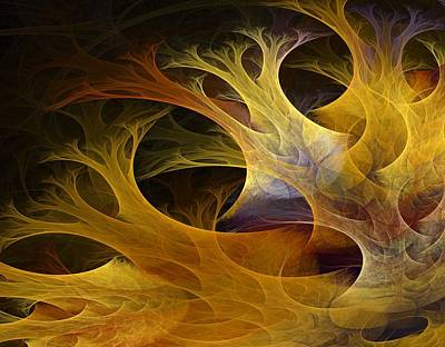 Colorful Abstract Fractal Art Photograph - Wild Trees by Lourry Legarde