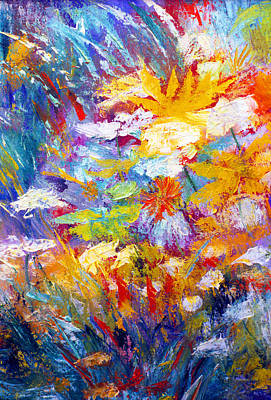 James Gallagher Painting - Wildflowers by James Gallagher