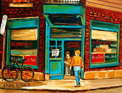 Store Fronts Painting - Wilensky's Restaurant by Carole Spandau