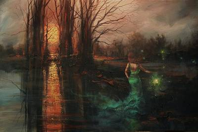 Halloween Painting - Will-o-the-wisp by Tom Shropshire