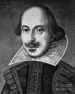 William Shakespeare, English Poet Print by Photo Researchers