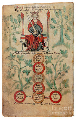 William The Conqueror Family Tree Print by Photo Researchers