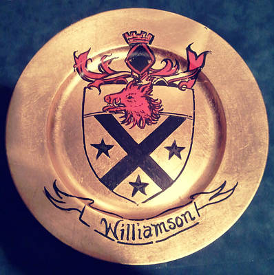 Coat Of Arms Painting - Williamson Charger by Nancy Rutland