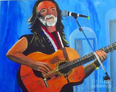 Willie Nelson Print by Jayne Kerr