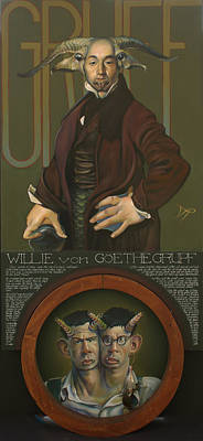 Yak Mixed Media - Willie Von Goethegrupf by Patrick Anthony Pierson