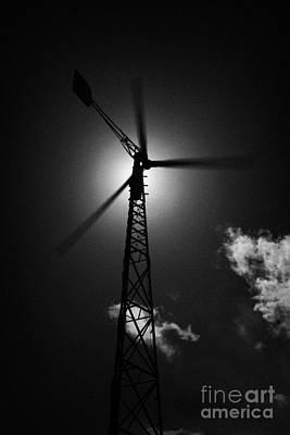 Wind Power Windmill Energy Print by Joe Fox