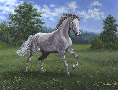 Animal Painting - Wind Song by Richard De Wolfe