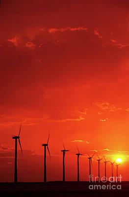 Wind Turbines Print by Bob Christopher