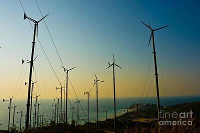 Wind Turbines Farm  Original by Phalakon Jaisangat
