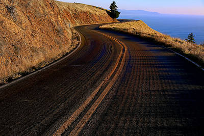 Curving Road Photograph - Winding Road by Garry Gay