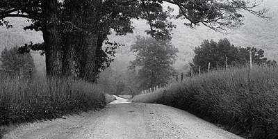 Fence Photograph - Winding Rural Road by Andrew Soundarajan