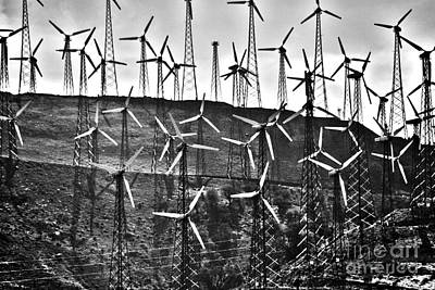 Technical Photograph - Windmills By Tehachapi  by Susanne Van Hulst