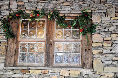 Window In The Old Mill Print by Jan Amiss Photography