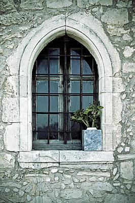 Wire-mesh Photograph - Window Of A Chapel by Joana Kruse