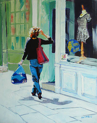 England Painting - Window Shopping by Neil McBride