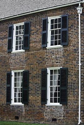 Windows At The Clover Hill Tavern Appomattox Virginia Print by Teresa Mucha