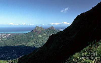 Windward Oahu From The Koolau Mountains Print by Thomas R Fletcher