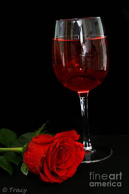 Roses Photograph - Wine And Rose by Tracy  Hall