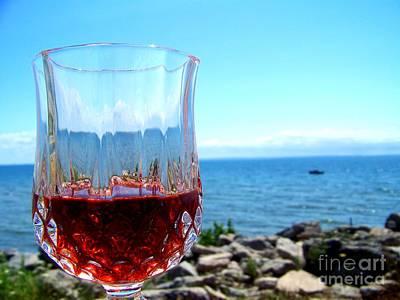 Wine By The Water Print by Deborah MacQuarrie-Haig