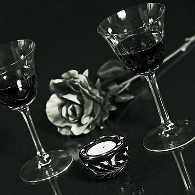 Wine For Two Print by Joana Kruse