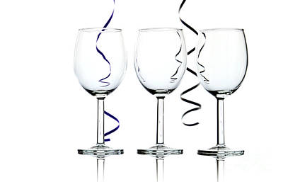 Wine Glasses Print by Blink Images