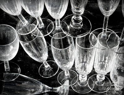 Wine Glasses Print by Lainie Wrightson