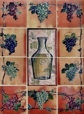 Wine Grape Mural Print by Andrew Drozdowicz
