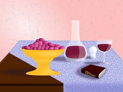 Wine Still Life Print by Hyrum Hammon