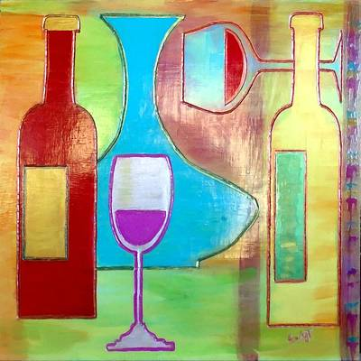Wine Tasting Print by Char Swift