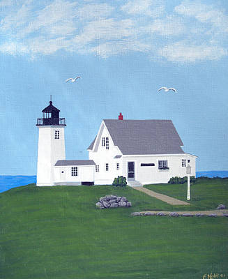 Wings Neck Lighthouse Painting Original by Frederic Kohli
