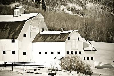 Snow Photograph - Winter Barn 4 by Marilyn Hunt