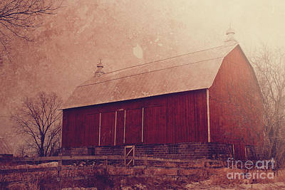 Winter Barn Print by Joel Witmeyer