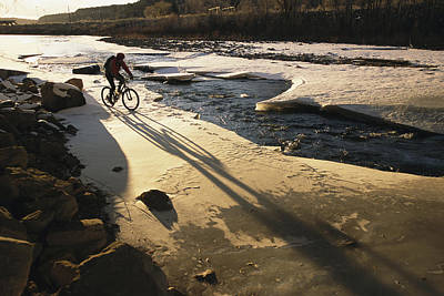 Winter Bicycling On The Partially Print by Kate Thompson