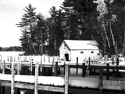 Photograph - Winter Boathouse by Christy Bruna