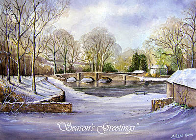 Winter In Ashford Xmas Card Print by Andrew Read