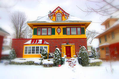 Winter In Ditmas Park Print by Mark Gilman