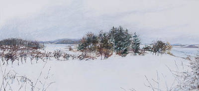 Winter In Ipswich Ma Print by Sandy Spring