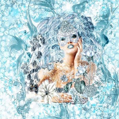 Ice-t Digital Art - Winter by Mo T