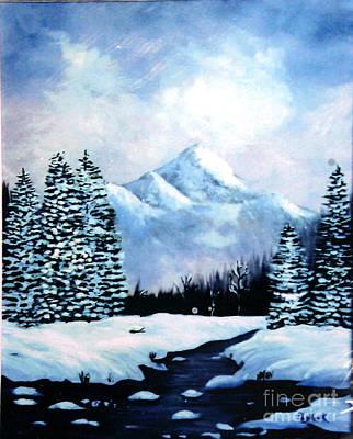 Winter Mountains Print by Phyllis Kaltenbach