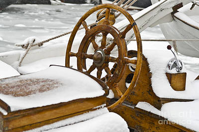 Winter On Board Print by Heiko Koehrer-Wagner
