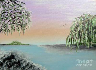 Bayou Painting - Winter On Lake Ponchartrain II by Alys Caviness-Gober