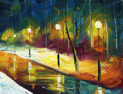 Winter Park Evening Original by Ash Hussein